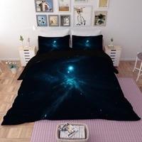 Fantasy Nebula 3D Print Bedding Set Modern Galaxy Sanding Duvet Cover Starry Sky Bedclothes Twin Full King queen Size