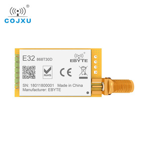 Image 1 - LoRa 868MHz SX1276 30dBm TCXO UART ebyte E32 868T30D ยาว 8000m iot rf เครื่องส่งสัญญาณและตัวรับสัญญาณไร้สาย SMA K antenne