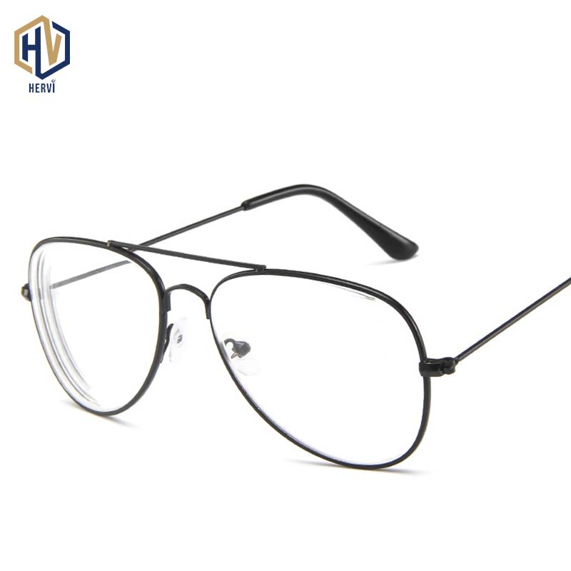 2020 Fashion Pilot Myopia Glasses Men Women Metal Double Beam Reading Glasses Finished Product Myopia Eyeglasses -1.0 To -4.0