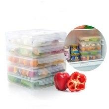 3 grid refrigerator food storage container with lid sealed crisper fresh keep box
