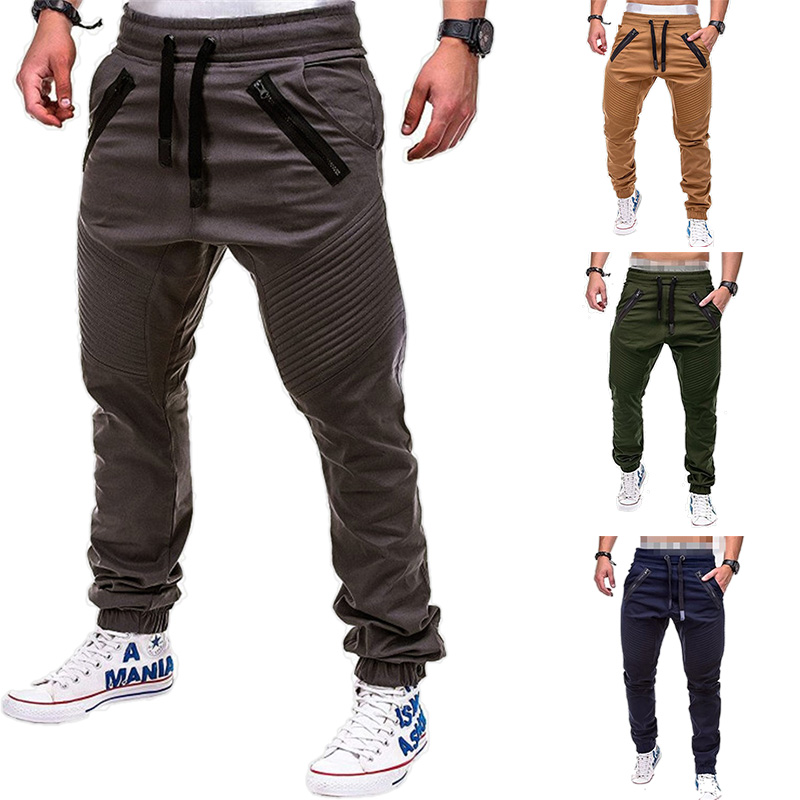2019 Casual Joggers Pants Solid Color Men Pants Long Trousers Pantalones Hombre Military Army Cargo Pants Men Leggings Pants