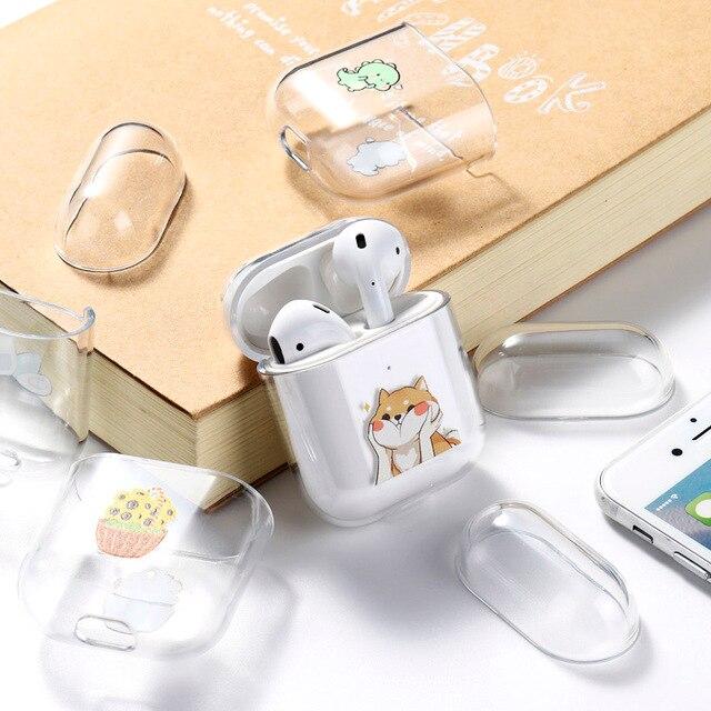 Case For AirPods 2 1 Case Cover Coque Wireless Bluetooth headphones Transparent TPU Soft Cover For Apple Air Pods Funda Capa 3