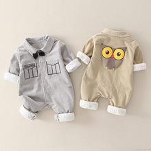 Chłopięce ubrania noworodka pajacyki bawełniane kreskówki chłopięcy kombinezon jednoczęściowy dla niemowląt kombinezony kostium dla dzieci maluch pajacyki odzież dla niemowląt tanie tanio msnynieco Poliester COTTON Cartoon Skręcić w dół kołnierz Przycisk zadaszone Boys baby Pełna M0534 Pasuje prawda na wymiar weź swój normalny rozmiar