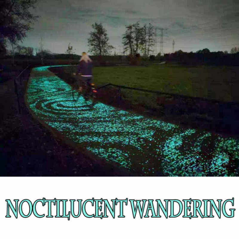 Bagliore di Ghiaia Luminoso Nottilucenti Sabbia Serbatoio di Pesci D'acquario Particelle Fluorescenti Decorazione Del Partito FAI DA TE Glow in the Dark