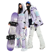 Snow Jacket Pants Ski-Suit women Sports-Clothing Waterproof Winter Warm Thick Outdoor