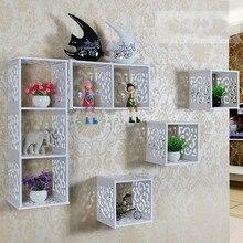 Настенная полка для спальни, гостиной, настенная подвесная креативная простая решетчатая декоративная стойка для хранения роутера, стойка XI3201441