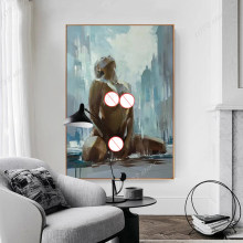 Sexy Naked Woman Abstract Canvas Painting Art Decoration Poster Mural Home Living Room Bed Room Wall Decor Cuadros Quadro