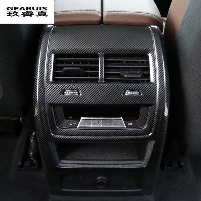 Voiture style fibre de carbone arrière climatisation évent cadre décoratif sortie garniture bande couverture autocollants pour BMW X5 G05 accessoires