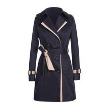 KANCOOLD coats Women Winter Autume Buttons Back Bow Bandgae Windbreaker coats Br