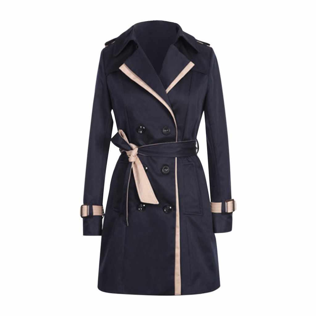 KANCOOLD palto kadınlar kış sonbahar düğmeler geri yay bandaj rüzgarlık palto kısa moda yeni mont ve ceketler kadın 2019Oct3