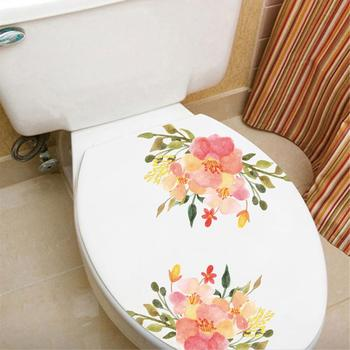 Flowers Refrigerator PVC Art Wall Stickers Kicthen Bath Stool Poster Decals image
