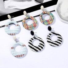 Hello Miss 2019 new fashion earrings bohemian woven circle womens jewelry gift