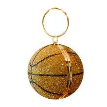 Женский вечерний клатч в баскетбольном стиле блестящая сумка