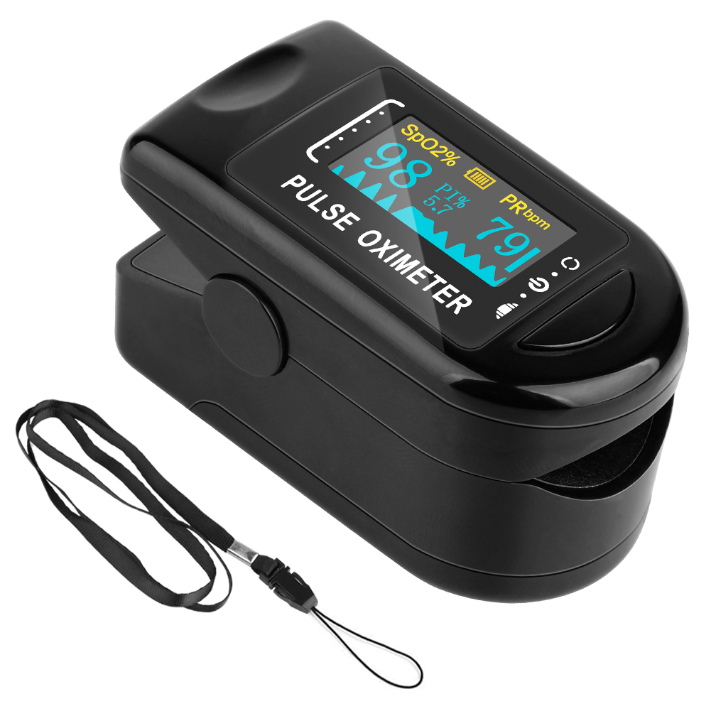 Hot Medical Portable Finger Pulse Oximeter Blood Oxygen Heart Rate Saturation Meter OLED Oximetro De Dedo Saturometro Monitor