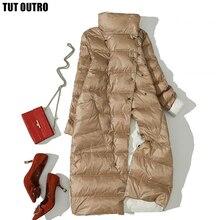 2020 Winter Eend Donsjack Voor Vrouwen Witte Eend Down Jas Double Side Wear Sneeuw Lange Parka Warm Vro Uitloper merk Kleding
