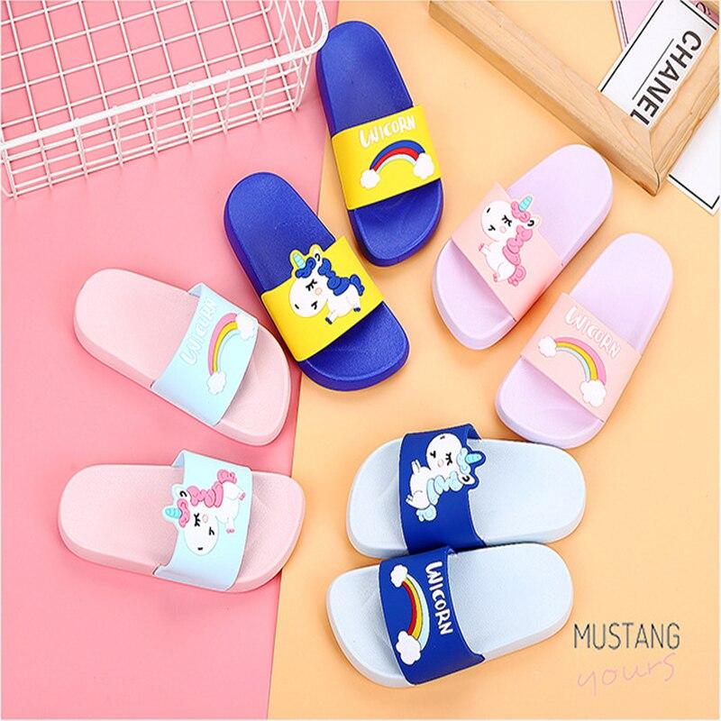 Little//Big Kids Cute Slide Sandals Stylish Non-Slip Bath Beach Pool Slipper for Girls Boys