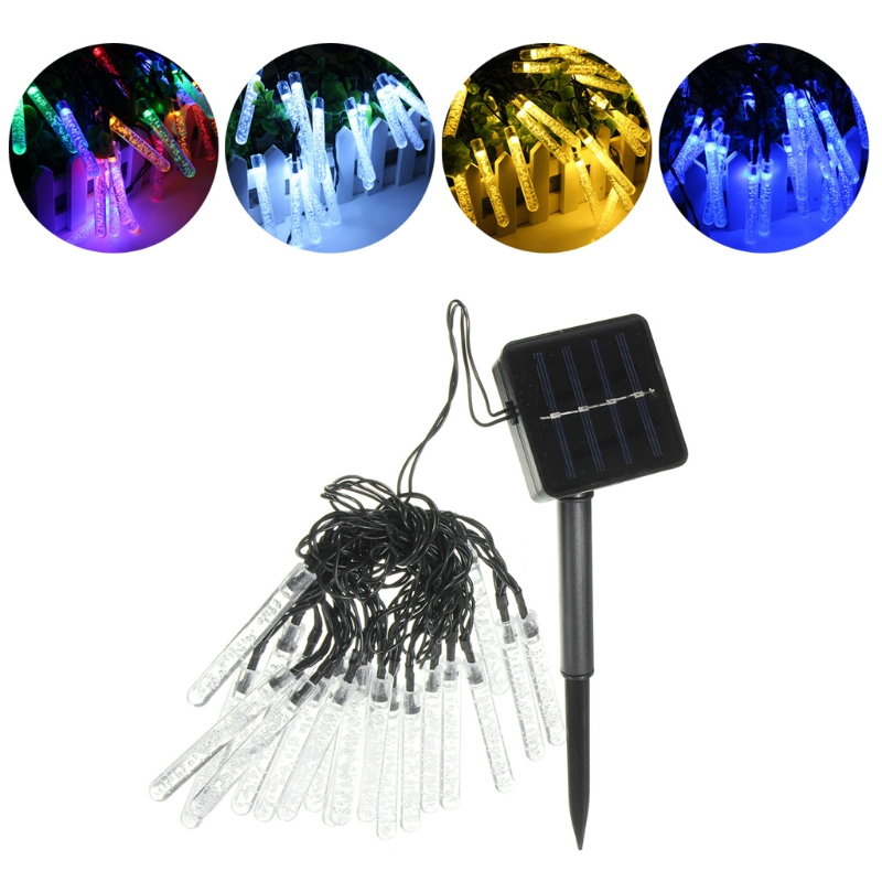 20 LED 3.2m Solar Ice Piton Fairy String Light Lamp Wedding Xmas Party Decor Outdoor