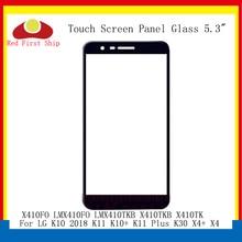 10 قطعة/الوحدة اللمس الشاشة ل LG K10 2018 K11 K10 + K11 زائد K30 X4 + X4 اللمس لوحة الجبهة الخارجي LMX410TKB LCD الزجاج X410TKB X410TK