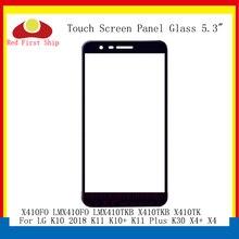 10 teile/los Touch Screen Für LG K10 2018 K11 K10 + K11 Plus K30 X4 + X4 Touch Panel Front äußere LMX410TKB LCD Glas X410TKB X410TK