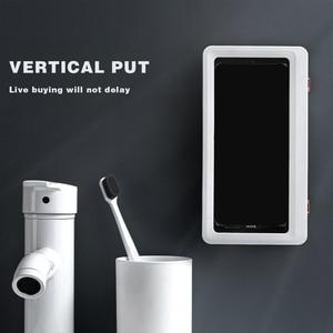 Держатель для планшета, телефона, водонепроницаемый чехол для хранения, настенное крепление, все стандартные полки, самоклеящиеся аксессуары для душа|Коробки и ящики для хранения|   | АлиЭкспресс