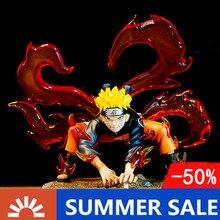 Naruto PVC Action Figure Kyuubi Statue Anime Naruto Shippuden Uzumaki Naruto Kurama Collectible Model Toy Figurine 200mm