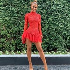 Ohvera Red Lace Dres...