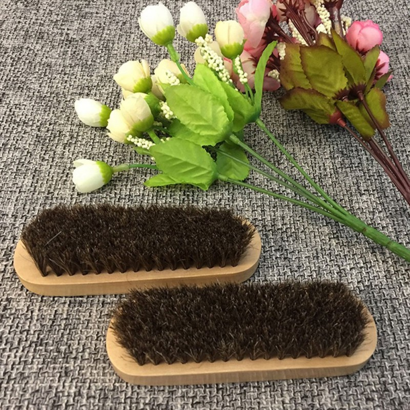 Wooden Wash Brush Car Horse Hair Handle Detailing Tools Products for Auto Cleaning Washing Detail Interior Clean