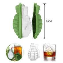 Plateau à glaçons en forme de Grenade 3D, créatif, en Silicone, pour faire de la glace, des boissons, du whisky, du vin, accessoires de Bar