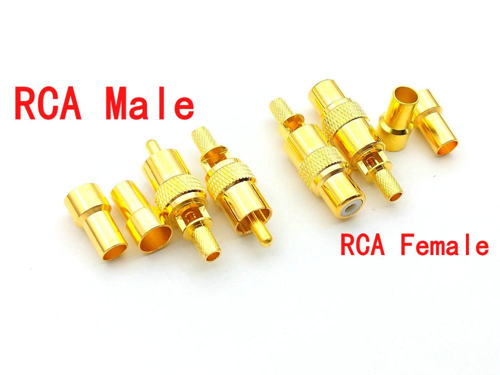 2pcs N Female crimp for RG58 RFC195 RG400 RG142 Cable RF Connector High Quality Ships from USA