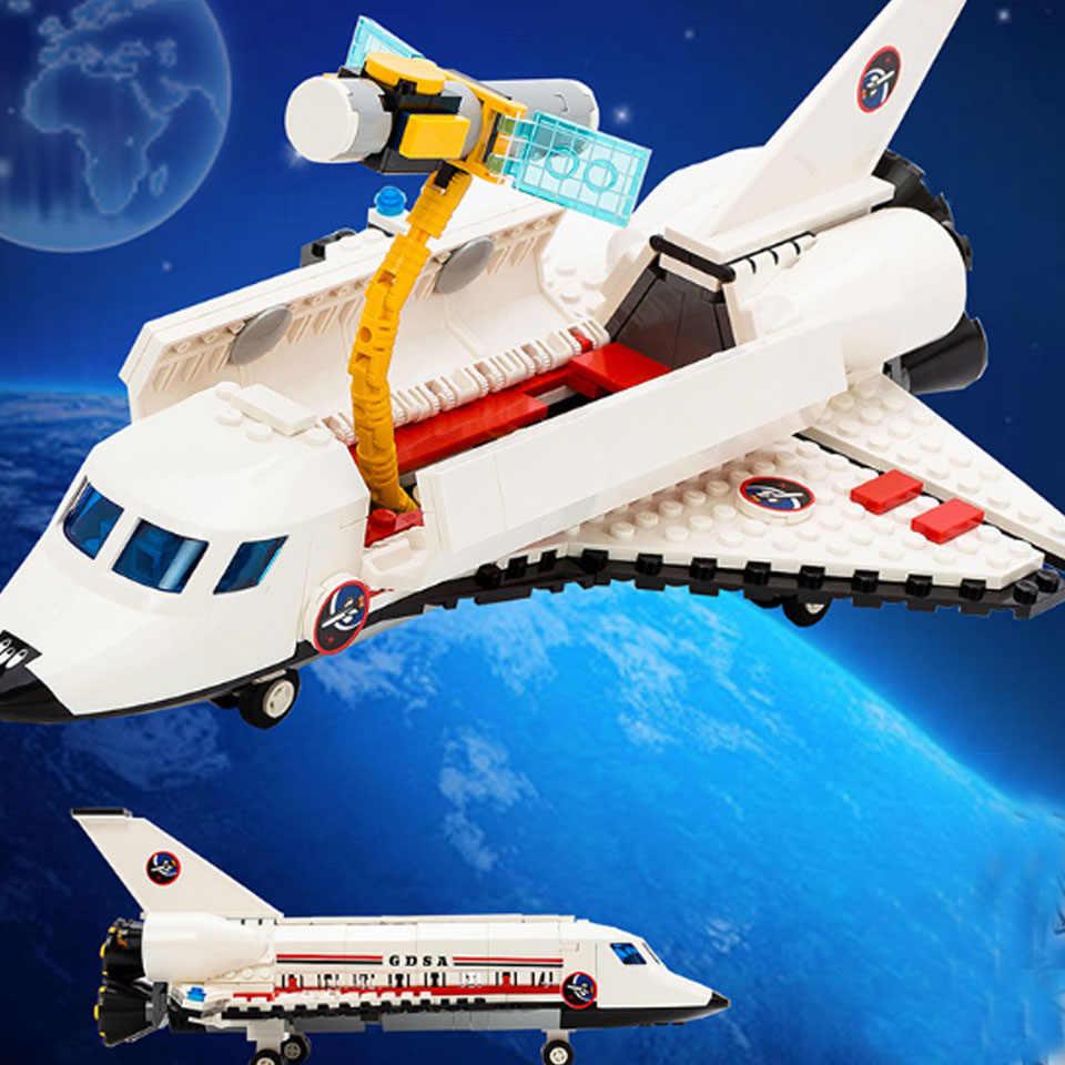 679Pcs Città Spazioporto Space Shuttle Launch Center legoinglys Mattoni Building Block Giocattolo Educativo Per Bambini di Design Per Blocco