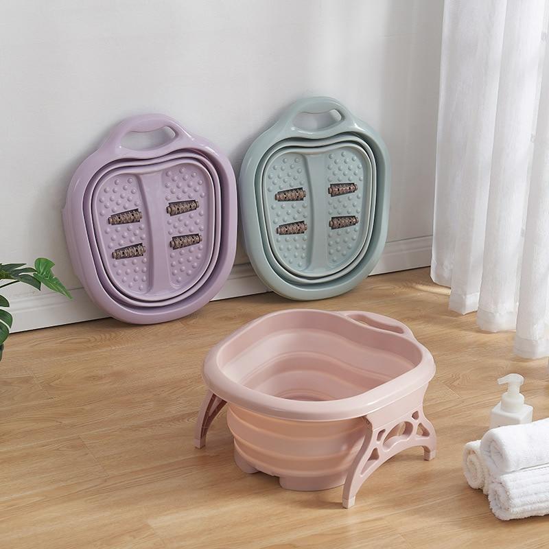 New Arrivals Collapsible  Plastic Foot Bath Spa Pedicure Bubble Foot Barrel Foot Soaking  Home Sauna Hot Tub  Pedicure Bath|Inflatable & Portable Bathtubs|Home & Garden - title=