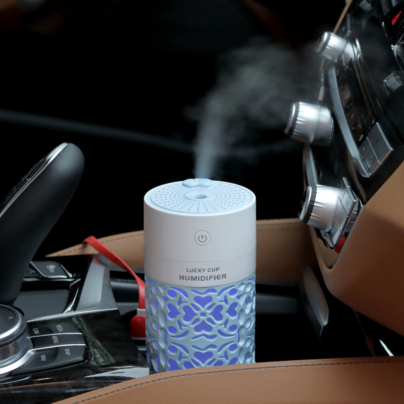 SaengQ 250ml Air Humidifier With LED Night Lamp Mini Fan Aroma Essential Oil Diffuser USB Fogger Mist Maker For Home Office Car