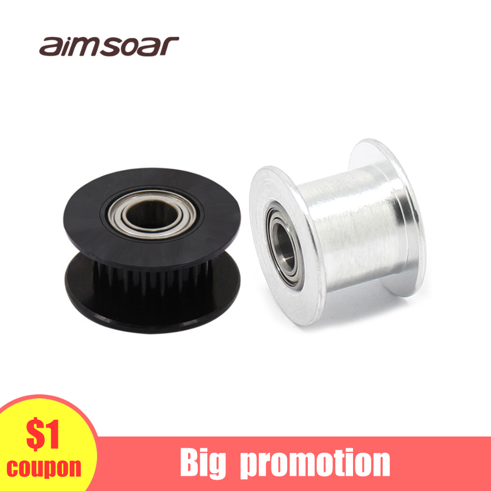Gt2 Timing Belt Pulley 6mm 10mm 16 Teeth  20 Teeth 3d Printer Parts Gt2  6mm 10mm Bandwidth Tensioner Tension Roller MXL