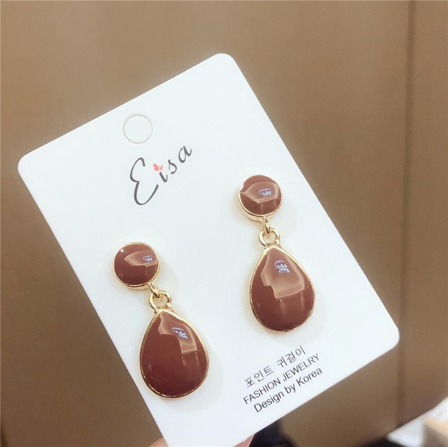 Ha8d7ad2a381f4d45962bf09ac8b5e988j - New Arrival Metal Classic Round Women Dangle Earrings Korean Fashion Circle Geometric Earrings Sweet Small Jewelry