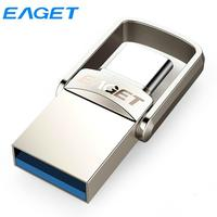 Eaget-unidad Flash USB OTG tipo C, Pendrive de 128GB, 64GB, 32GB, Mini USB 3,1, Pen Drive para teléfono, tableta, ordenador portátil y Macbook