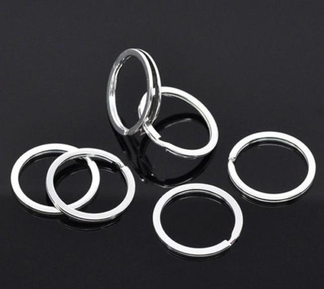 Silver Plated Metal Blank Keyring Keychain Split Ring Keyfob Key Holder Rings Women Men DIY Key Chains Accessories 4
