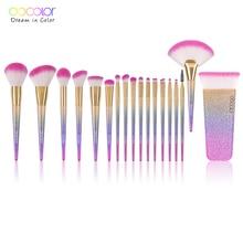 Кисти для макияжа Docolor, 18 шт., Коллекция кистей для фэнтези, лучшие синтетические радужные кисти для волос, лучший подарок для женщин