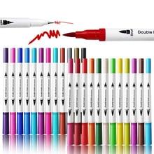 Двойные ручки-щетки каллиграфическая ручка набор с ручной буквой руководство книга тонкий лайнер мягкий наконечник маркеры