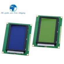 128*64 pontos lcd módulo 5v tela azul 12864 lcd com luz de fundo st7920 porta paralela lcd12864 para arduino
