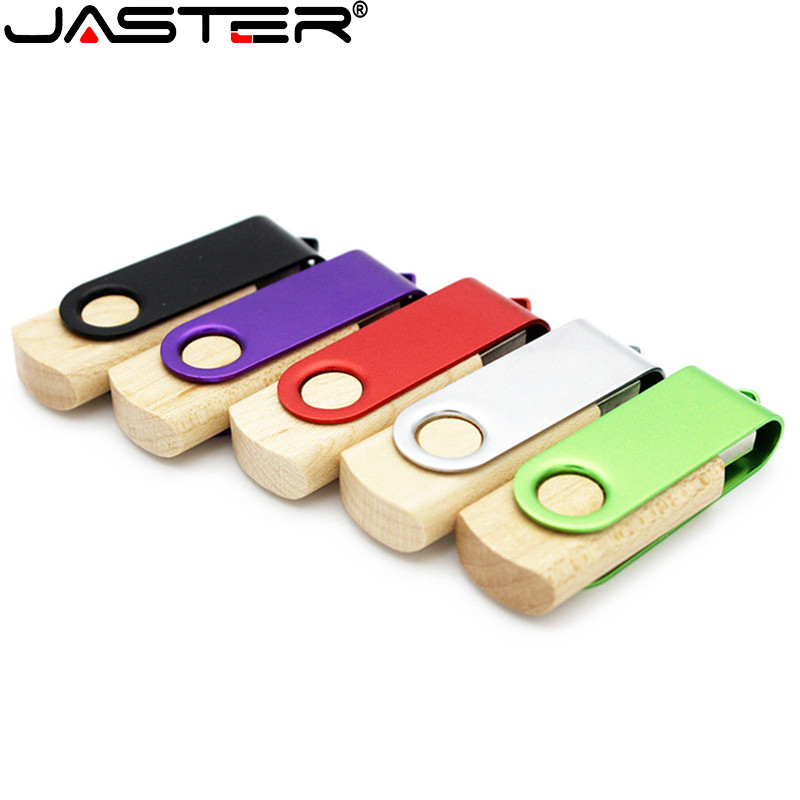 JASTER USB 2.0 Custom Maple Usb Flashdrive Pendrive 4GB 8GB 16GB 32GB 64GB 128GB Pen Drive Souvenir Gifts(custom Logo)