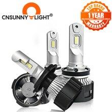 CNSUNNYLIGHT faro LED Canbus para coche H7, H4, H11, H8, 9005, HB3, HB4, D1, 9012 W, 16000Lm, Super brillante, 104 K, estilo de coche