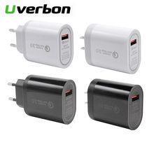 18 W Universal UE/macho USB de carga rápida cargador de portátil Tablet QC3.0 cargador de pared velocidad adaptador de carga para teléfono Iphone12