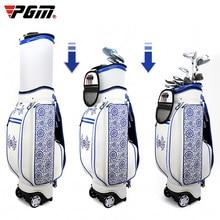 PGM Golf Женская сумка сине-белая фарфоровая вышивка Гибкая балетная подушка безопасности для женщин
