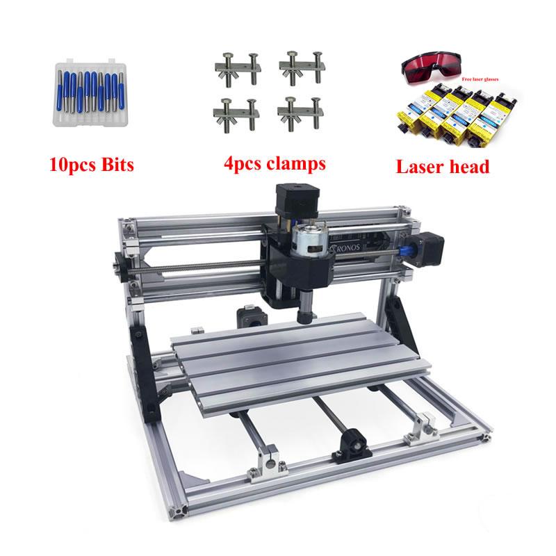 DIY Mini Cnc 3018pro 2418pro 1610pro Wood Laser Engraving Machine Pcb Milling Laser Marking Power 15w 10w 7w 5.5w 3500mw 2500mw