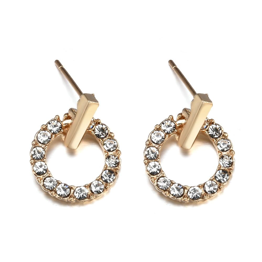 New Fashion Women Stud Wedding Earrings Simple Hypoallergenic Circle Exquisite Mini Earrings Female Jewelry 2019 Wholesale 5