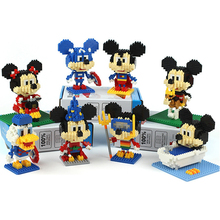 Disney Micky Cosplay Micro Blocks DIY Building Block Toys Cute Avengers Cartoon Auction Figures Kids Toys for Children Gifts
