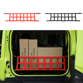 For Suzuki Jimny 2019+ Rear Trunk Cover Luggage Carrier Curtain With Pull Buckle ABS Black/Red Covering Curtain Car Accessories