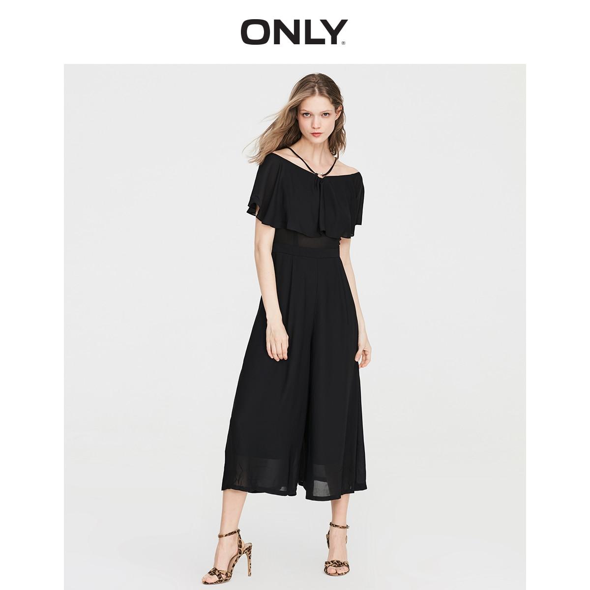 ONLY Women's  Loose Fit Wide-leg Crop Chiffon Jumpsuit | 119144509