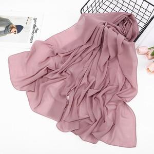 Image 4 - 2020 Đồng Màu Xuân Hè Lấp Lánh Khăn Voan Nữ Lắc Chân Nữ Chân Hồi Giáo Đầu Tóc Hijab Khăn Bufanda Mujer