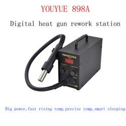 Gorąca sprzedaż YOUYUE 898A stacja lutownicza bez ołowiu inteligentna stacja lutownicza z cyfrowym wyświetlaczem na naprawa telefonów komórkowych